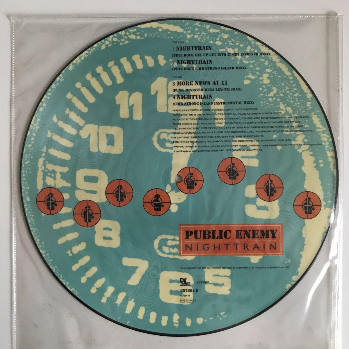 Public Enemy - Nighttrain【UK Orig.】【オリジナル】【Pete Rock】【限定ピクチャー盤】【James Brown/Blood, Sweat & Tearsネタ】_画像2