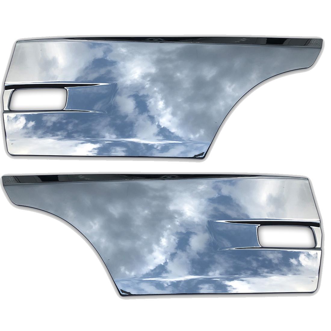 日産 UD クオン 大型 メッキ サイド ドア ガーニッシュ パネル 左右セット ブリスター 平成16年11月~ AP-T136LR_画像1