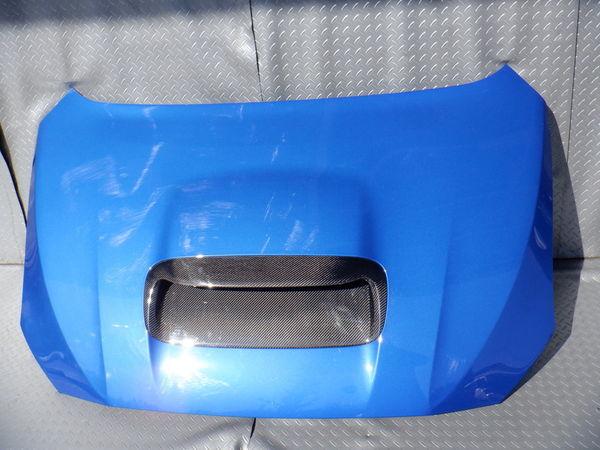 スバル純正 VMG VM4 レヴォーグ 後期 STIスポーツ ボンネット フード 即納 K7X ブルー 使用OK コラゾン カーボン エアスクープ付_画像1