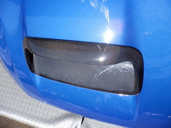 スバル純正 VMG VM4 レヴォーグ 後期 STIスポーツ ボンネット フード 即納 K7X ブルー 使用OK コラゾン カーボン エアスクープ付_画像4