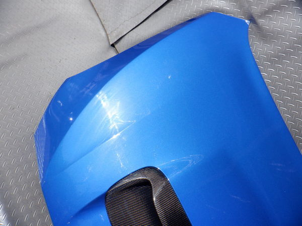 スバル純正 VMG VM4 レヴォーグ 後期 STIスポーツ ボンネット フード 即納 K7X ブルー 使用OK コラゾン カーボン エアスクープ付_画像7