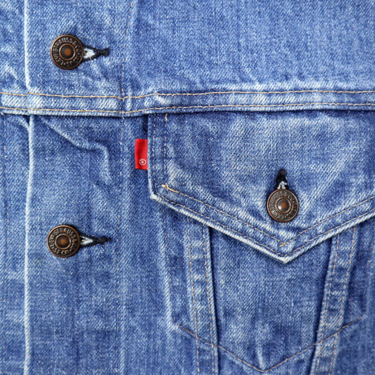 ☆送料無料☆ 70s ビンテージ LEVIS リーバイス 70505 スモールe USA製 デニム ジャケット Gジャン ジージャン ワーク 70年代 古着 刺繍_画像6
