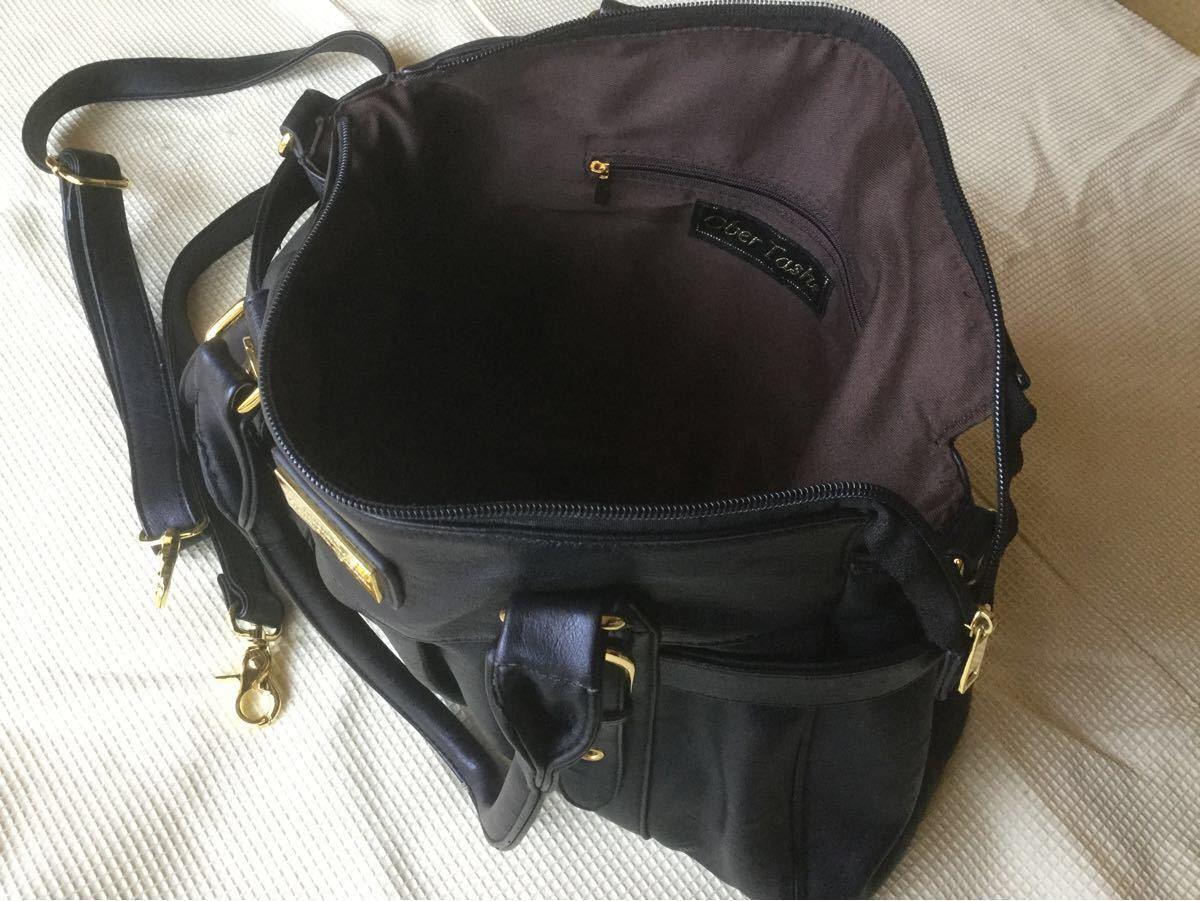 クラッチバッグ+ショルダーバッグ(黒合皮)