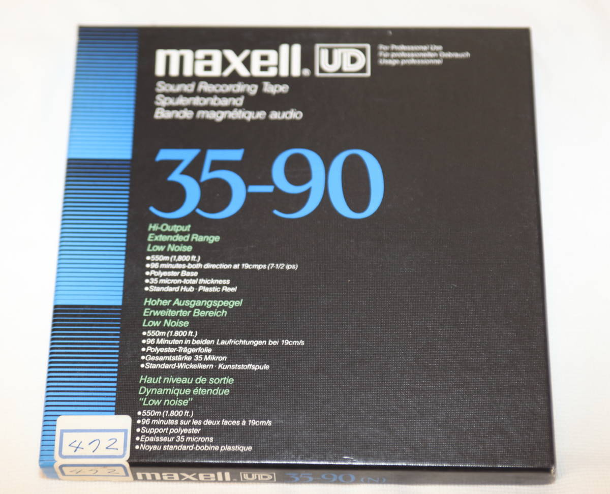 ♪ 録音済 7号オープンリールテープ ① maxell UD 35-90 ♪ _画像1