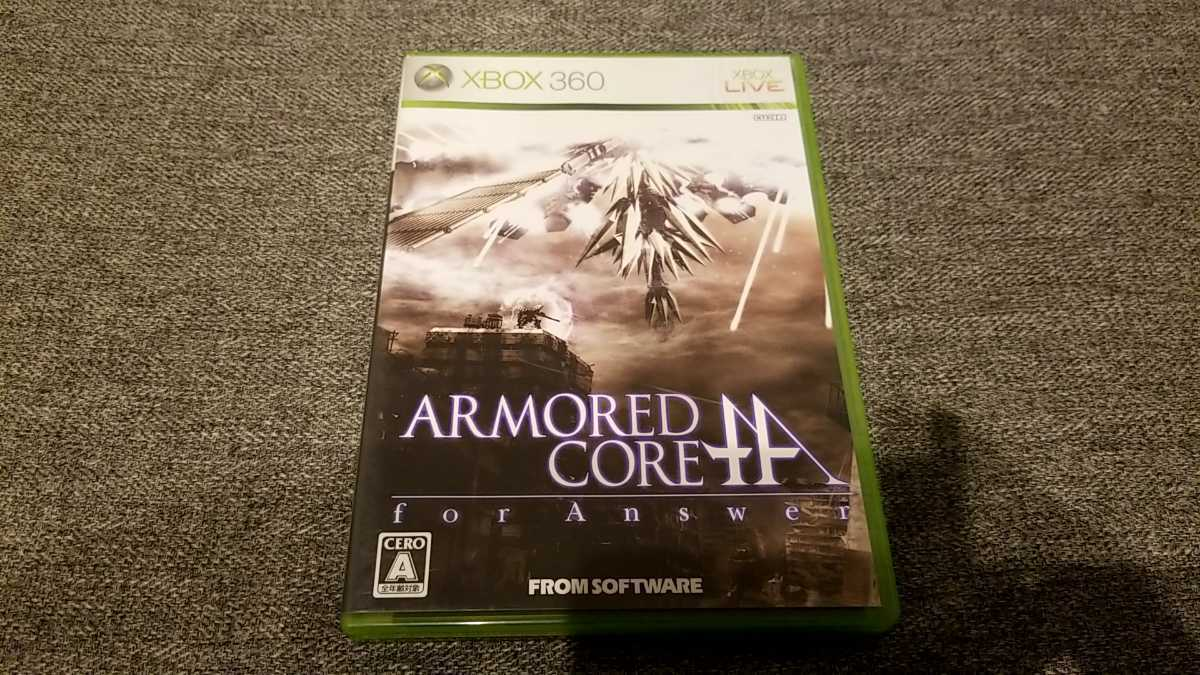 XBOX360ソフト アーマード・コア フォーアンサー ARMORED CORE for Answer