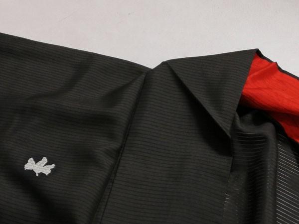 KG12114 きものさらさ アンティーク 黒留袖 絽 大正ロマン 正絹 リメイク 材料 菊 桔梗 夏着物 フォーマル_画像6
