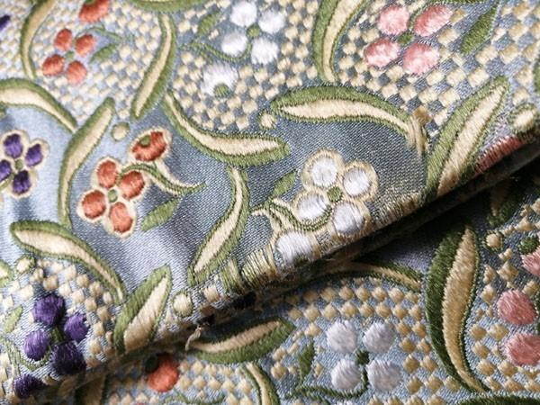 きものさらさ アンティーク 織 半幅帯 正絹 大正ロマン 唐織_画像10