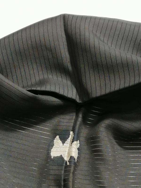 KG12114 きものさらさ アンティーク 黒留袖 絽 大正ロマン 正絹 リメイク 材料 菊 桔梗 夏着物 フォーマル_画像10
