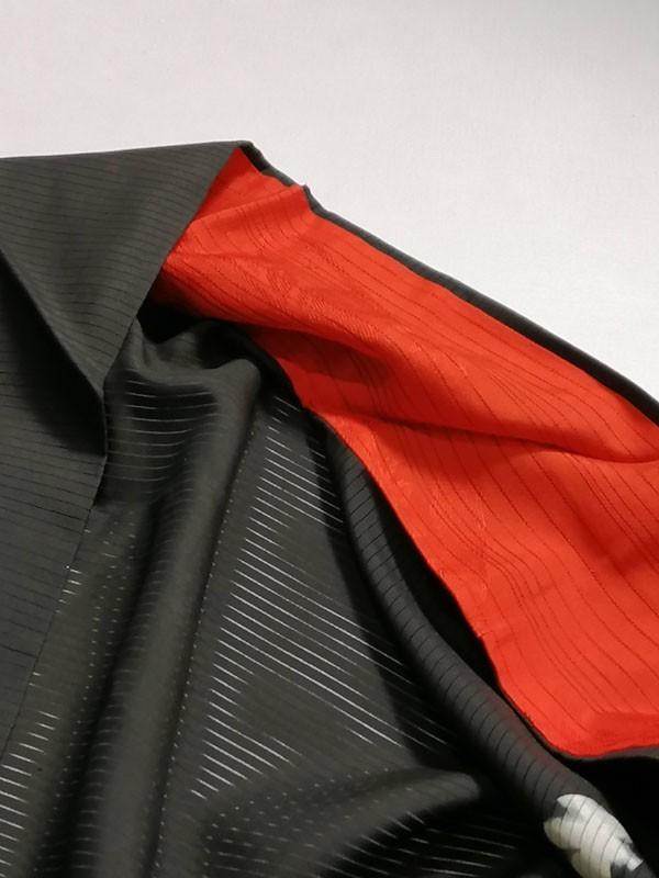 KG12114 きものさらさ アンティーク 黒留袖 絽 大正ロマン 正絹 リメイク 材料 菊 桔梗 夏着物 フォーマル_画像4