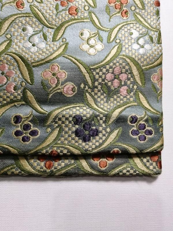 きものさらさ アンティーク 織 半幅帯 正絹 大正ロマン 唐織_画像8