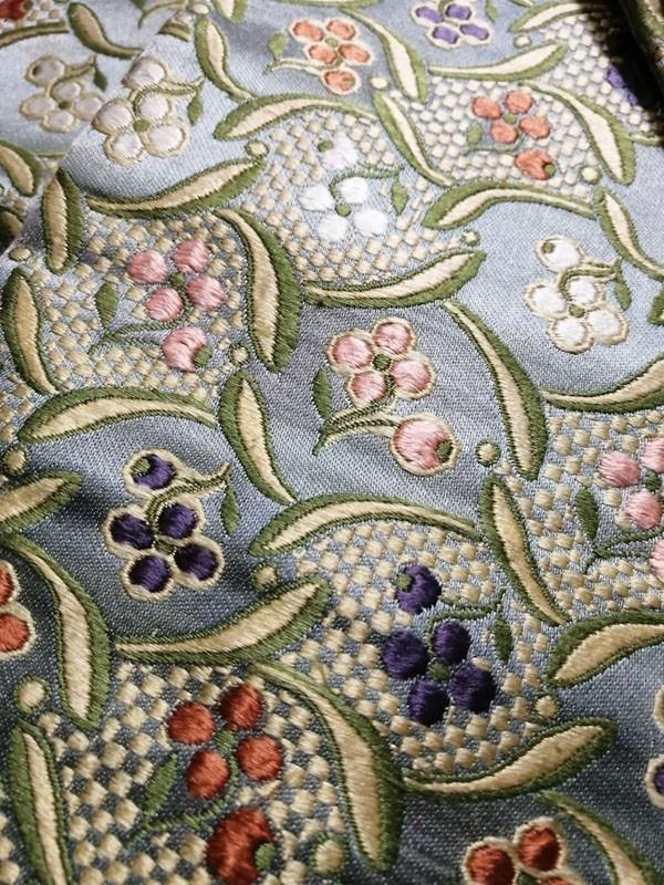 きものさらさ アンティーク 織 半幅帯 正絹 大正ロマン 唐織_画像9
