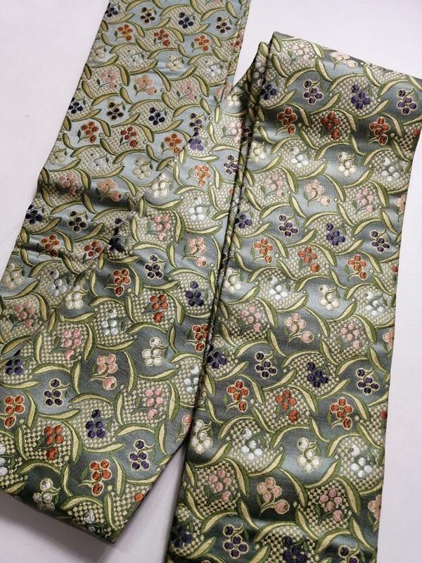 きものさらさ アンティーク 織 半幅帯 正絹 大正ロマン 唐織_画像7