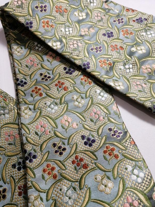 きものさらさ アンティーク 織 半幅帯 正絹 大正ロマン 唐織_画像4