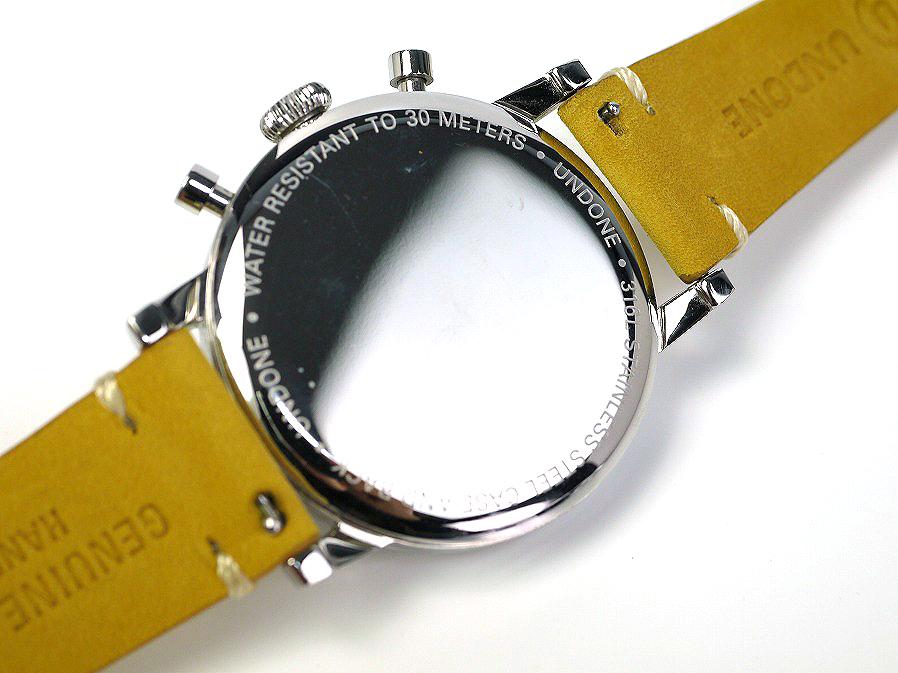 ■本物保証■アンダーン■クロノグラフ 316L メンズ腕時計■替えベルト付■レザー■_画像8