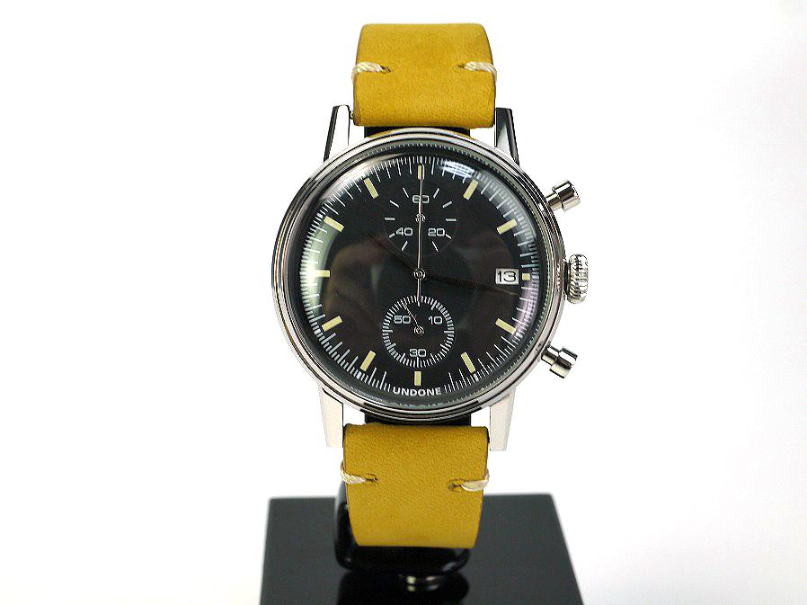 ■本物保証■アンダーン■クロノグラフ 316L メンズ腕時計■替えベルト付■レザー■_画像2