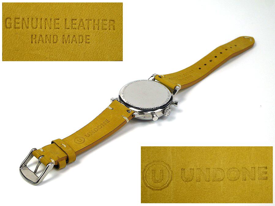 ■本物保証■アンダーン■クロノグラフ 316L メンズ腕時計■替えベルト付■レザー■_画像7