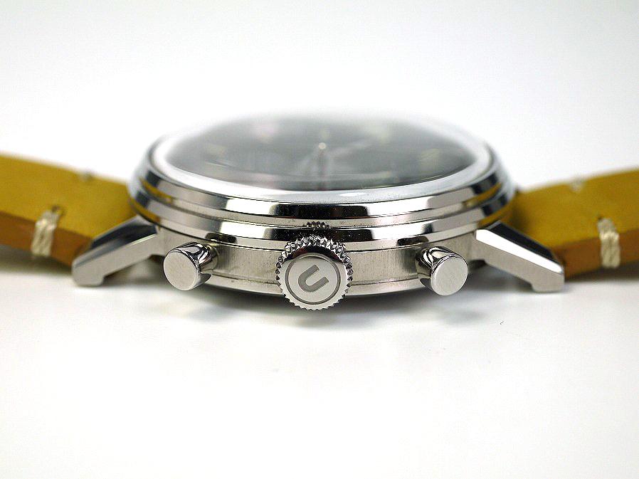 ■本物保証■アンダーン■クロノグラフ 316L メンズ腕時計■替えベルト付■レザー■_画像9