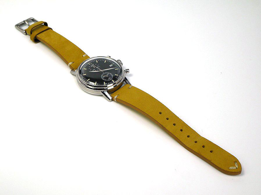 ■本物保証■アンダーン■クロノグラフ 316L メンズ腕時計■替えベルト付■レザー■_画像6