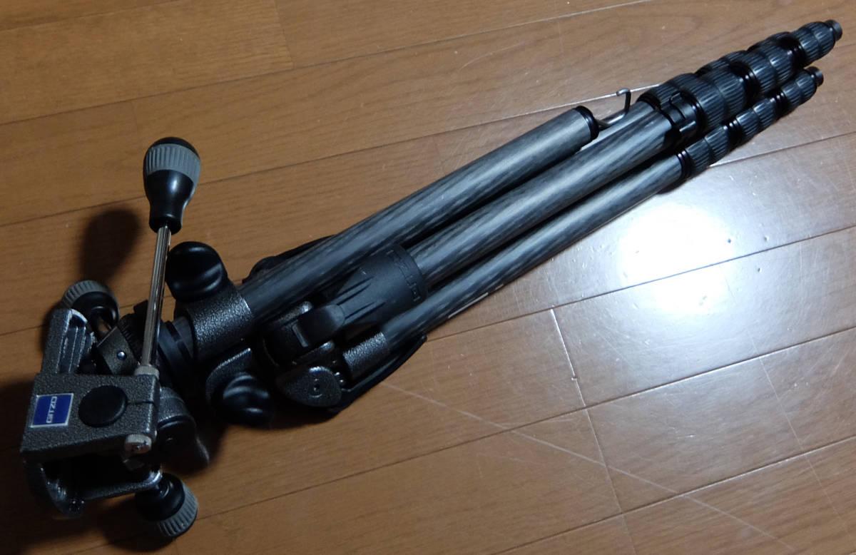 複写接写 ジッツオ GITZO 4段 多機能 カーボン三脚 エクスプローラー G2228+中型雲台 G1270M_画像3