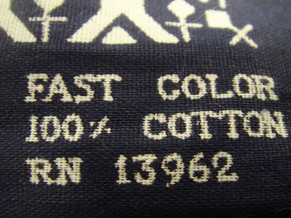 デッドストック 未裁断 計4枚+ バンダナ FAST COLOR RN13962 ビンテージ 60'S 生地 布地 /検 エレファント visvim マフラー ストール_画像6