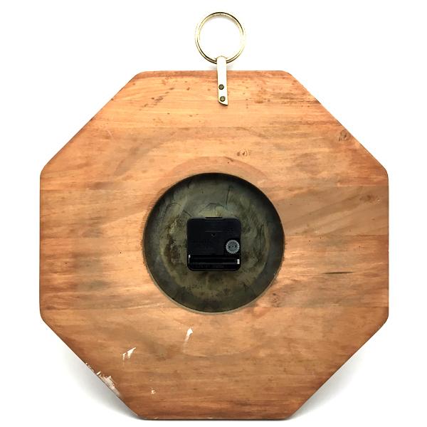 送料無料 アンティークウォールクロック UNITED/ヴィンテージ壁掛け時計アメリカ製usa製ミッドセンチュリー北欧昭和レトロオクタゴン八角形_画像2