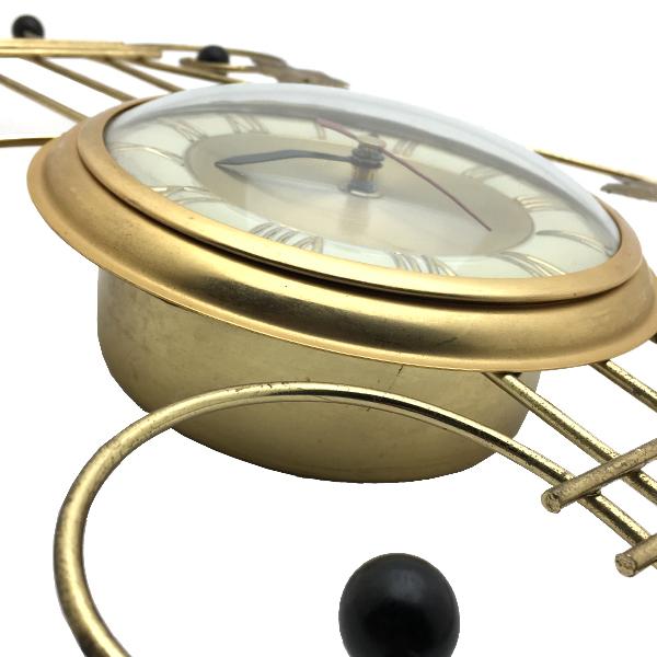 送料無料 アンティークウォールクロック UNITED/ヴィンテージ壁掛け時計アメリカ製usa製ミッドセンチュリーモダンイームズハープ琴60s70s_画像4