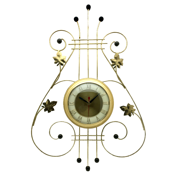 送料無料 アンティークウォールクロック UNITED/ヴィンテージ壁掛け時計アメリカ製usa製ミッドセンチュリーモダンイームズハープ琴60s70s_画像1