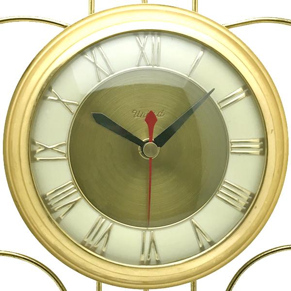送料無料 アンティークウォールクロック UNITED/ヴィンテージ壁掛け時計アメリカ製usa製ミッドセンチュリーモダンイームズハープ琴60s70s_画像3