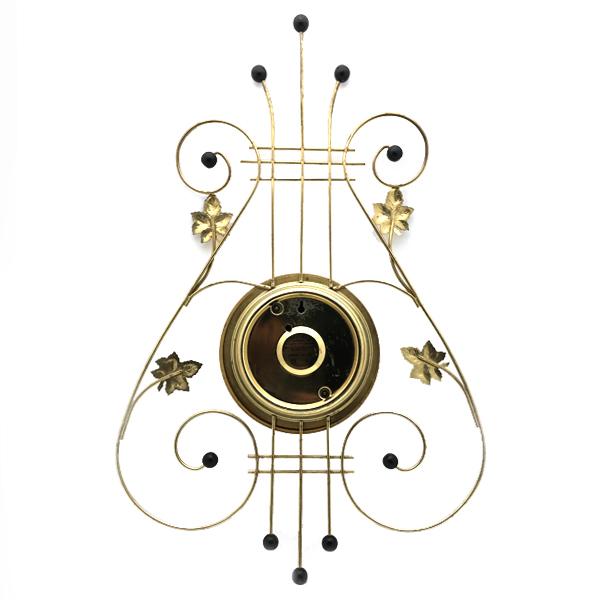 送料無料 アンティークウォールクロック UNITED/ヴィンテージ壁掛け時計アメリカ製usa製ミッドセンチュリーモダンイームズハープ琴60s70s_画像2