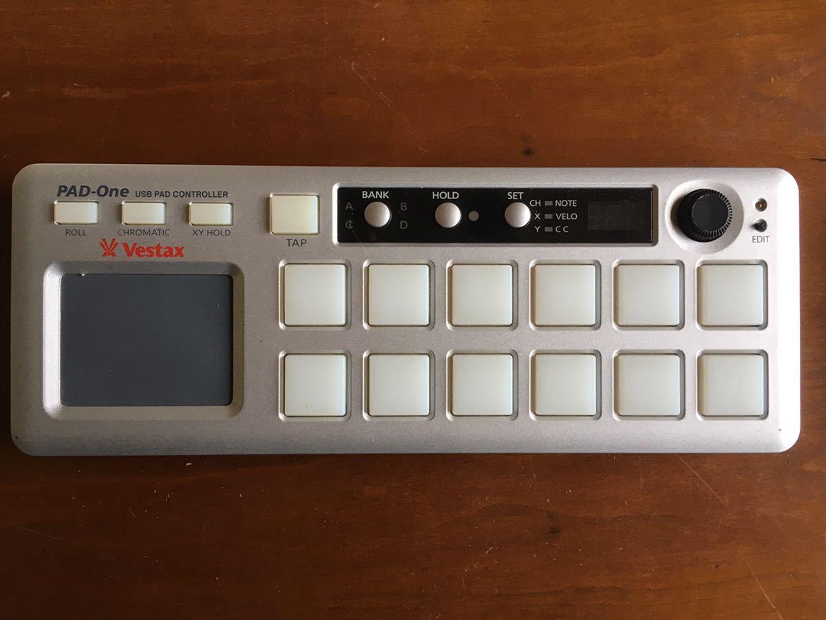 vestax べスタックス PAD-One  USB PAD CONTROLLER  USBパッドコントローラー 動作確認済