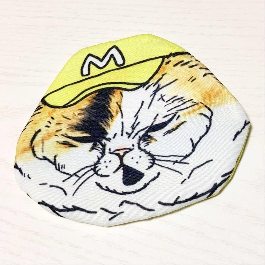 【送料無料】ブサ猫フェイスミニポーチ コインケース 小物入れ 雑貨 ネコグッズ 中古 ファッション雑貨 ファンシーグッズ
