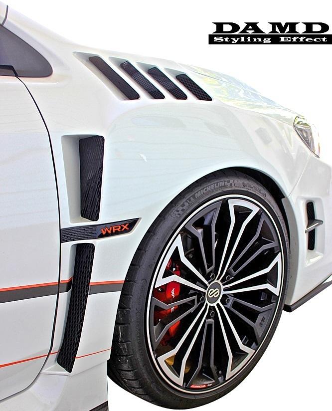 【M's】スバル WRX S4/STI (2014.8-) DAMD フロント オーバーフェンダー 左右// FRP 未塗装 ダムド エアロ VAG VAB ワイドフェンダー_画像1