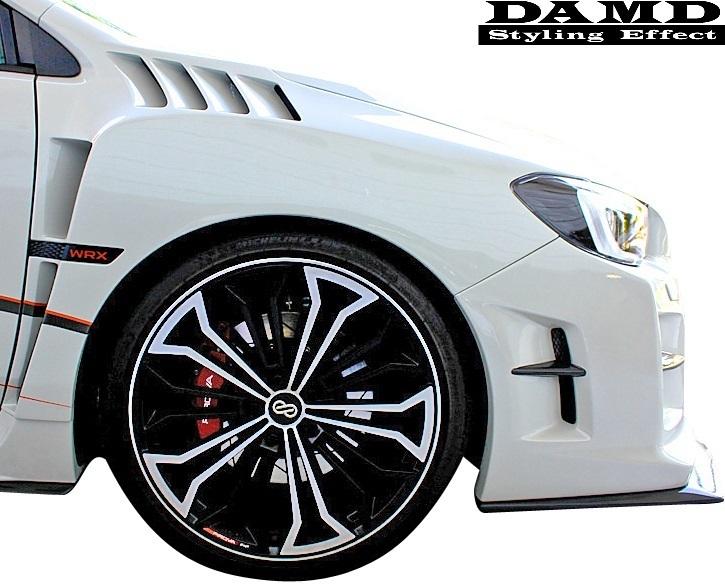 【M's】スバル WRX S4/STI (2014.8-) DAMD フロント オーバーフェンダー 左右// FRP 未塗装 ダムド エアロ VAG VAB ワイドフェンダー_画像2