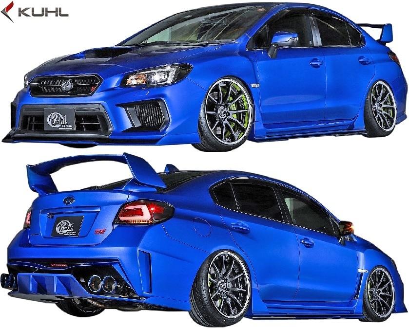 【M's】スバル 後期 WRX STI/S4 (H29.6-) Kuhl Racing VAB-GT フロントバンパーダクトカバ―//FRP SG クールレーシング エアロ_画像4