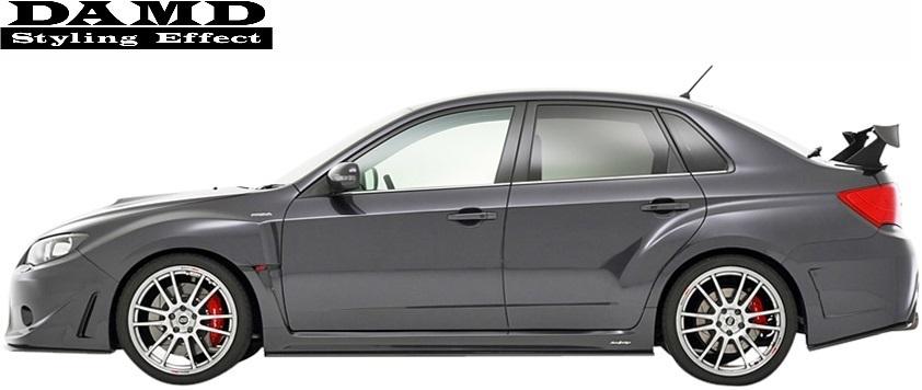 【M's】スバル インプレッサ WRX STI GV (2010.1-) DAMD リアバンパー//ダムド FRP製 エアロ カスタム リヤバンパー バンパー_画像4
