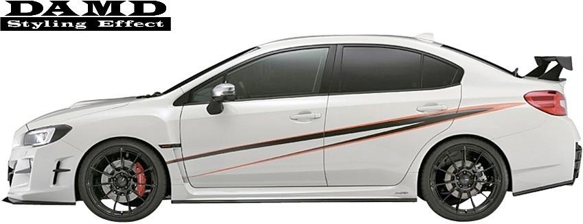 【M's】SUBARU WRX S4/STI (2014.8-) DAMD フロント オーバーフェンダー 左右// FRP 未塗装 ダムド エアロ VAG VAB ワイドフェンダー_画像4