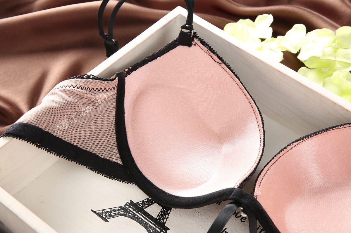 新品 未使用ファッション (75C)ブラジャ- & ショ-ツ 上下セット 下着 ブラショーツセット_画像5