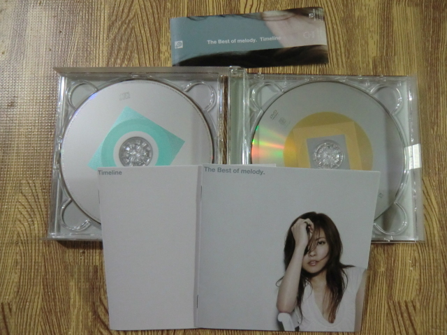 ♪ 送料無料!The Best of melody. Timeline ~ 初回限定盤 CD+DVD CD16曲 + DVD12曲 ~ _画像3