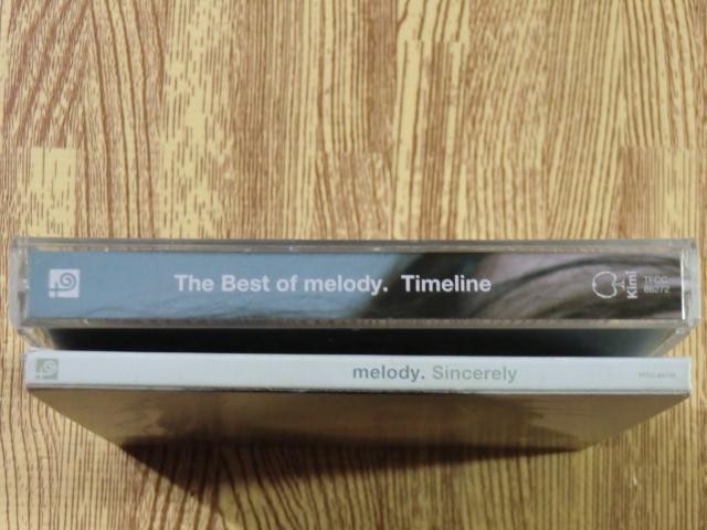 ♪ 送料無料!The Best of melody. Timeline ~ 初回限定盤 CD+DVD CD16曲 + DVD12曲 ~ _画像2