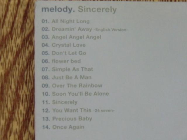 ♪ 送料無料!The Best of melody. Timeline ~ 初回限定盤 CD+DVD CD16曲 + DVD12曲 ~ _画像7