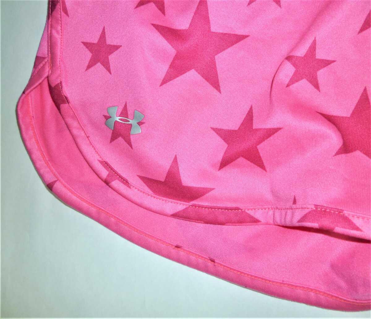 UNDER ARMOURアンダーアーマー ショートパンツ ピンク スター 星