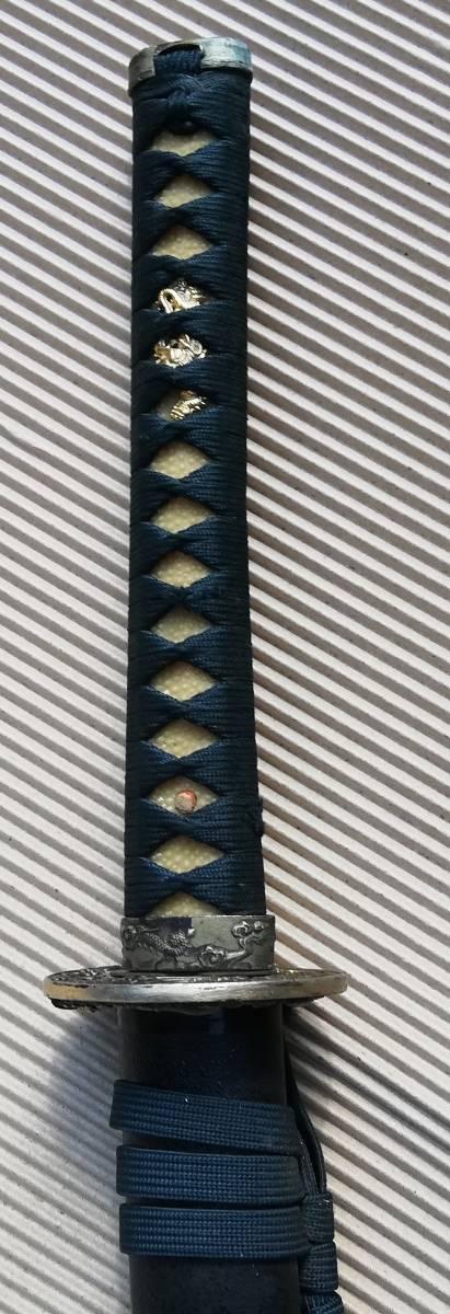 摸造刃 高級日本刀 黒鞘_画像4