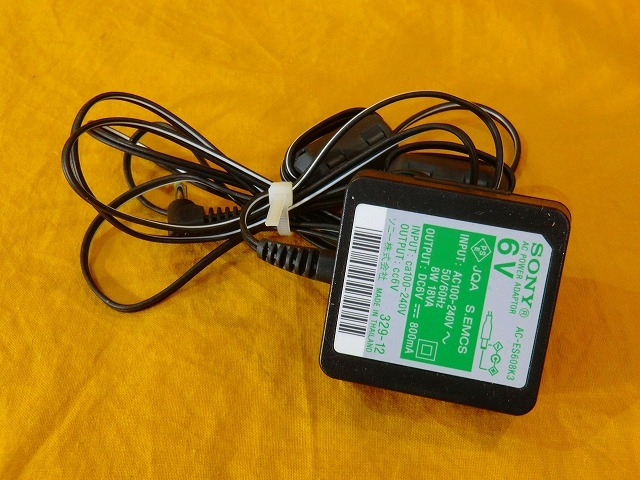 SONY AC-ES608K3 Power Supply AC Adapter Charger 6V 800mA Consumer ...