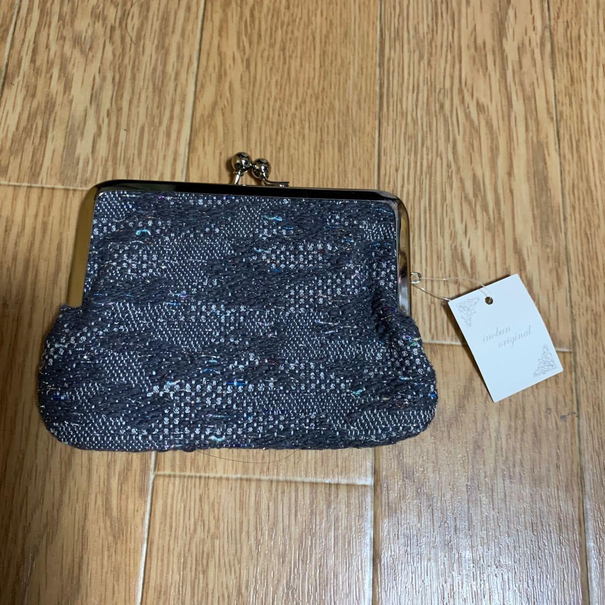 INOBUN イノブン オリジナル ジャガード フラット がま口ポーチ 財布
