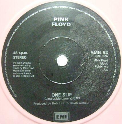 3枚で送料無料【英EMI 7'】Pink Floyd/One Slip c/w Terminal Frost (from A Momentary Lapse of Reason) 限定盤 pink vinyl_画像2