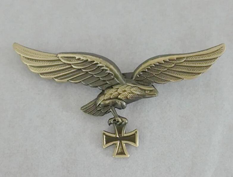 【送料無料】WWII WW2 ドイツ空軍 鷲章 プロイセン王国 ナチス ドイツ 部隊章 階級章 記章 徽章 勲章 真鍮製 新品_画像1