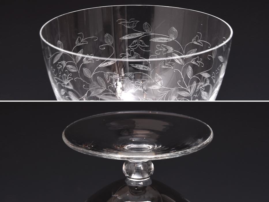BOHEMIA Crystalea ボヘミア フラワーベース 草花図 クリスタルガラス チェコ ハンドカット 花瓶 花器 花生 西洋美術 ガラス工芸 b7528n_画像3