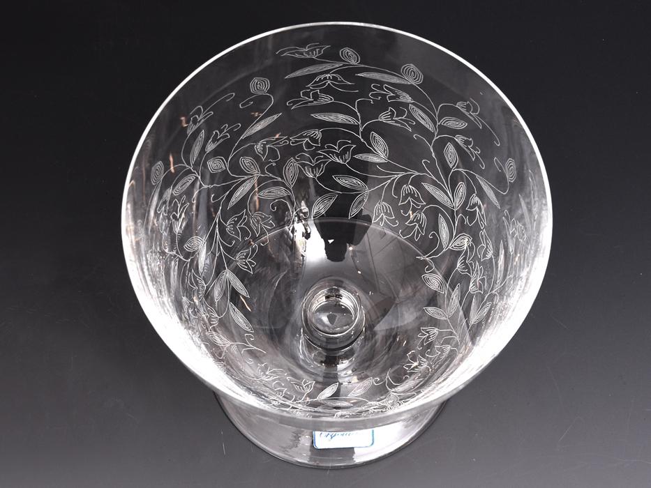 BOHEMIA Crystalea ボヘミア フラワーベース 草花図 クリスタルガラス チェコ ハンドカット 花瓶 花器 花生 西洋美術 ガラス工芸 b7528n_画像7