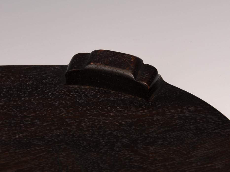 天然木 唐木 花台 最大幅:36㎝ 楕円台 紫檀 香炉台 盆栽台 床置台 飾台 敷板 華道具 茶道具 木工芸  b7616s_画像7