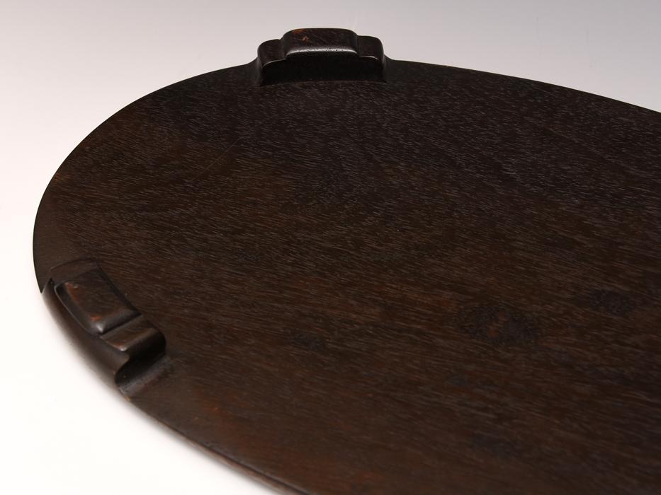 天然木 唐木 花台 最大幅:36㎝ 楕円台 紫檀 香炉台 盆栽台 床置台 飾台 敷板 華道具 茶道具 木工芸  b7616s_画像8